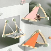 Cat Beds & Furniture Hammock Hanging Tent Nest Summer Breathable Canvas Bed Supplies Accessories Suction Cup