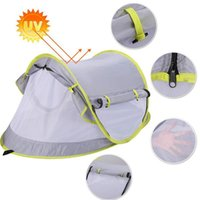 Tents And Shelters Outdoor Baby Beach Tent Foldable UV-Protecting Sun Shelter Portable Crib Multi-Function Toddler Travel