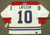 Homens Mulheres Juventude Guy Lafleur Montreal Canadiens 1983 CCM Voltar Home Hóquei Jersey Todos Costurados Nome de Qualidade Top Qualquer Número Golie Corte.