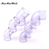 Watering Equipments 1pcs NuoNuoWell Transparent Plastic UPVC 90 45 Degree Equal Elbow Hose Connector For Garden Irrigation Pipe Tube Parts
