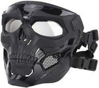 Maschera tattica Protettiva Full Face Clear Goggle Mask Skull Mask Dual Modalità Indossare Design Strap regolabile Strap Una taglia adatta a tutti