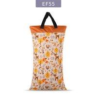 Polyester pul waterdichte babytassen voor mama kinderwagen gebruik 40 * 70 cm grote maat dubbele pakketluier natte zak 2624 Q2