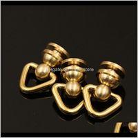 10 unidades de latón Cue y anillo D Remio Tornillos de remache Cabeza redonda Tornillo Atrás Artesanía de cuero para accesorios de piezas IGFSH GHVLN
