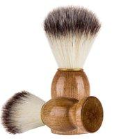 300pcs Fast Ship Badger Hair Men's Shaver Brush Barber Salon Men Facial Beard Cleaning Appliance Shaving Tool Razor Brushes with Wood Handle