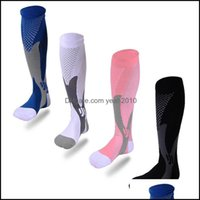 Athletic Outdoor As & Outdoorssports Running Compression Stockings 20-30 Mmhg Men Women Sports Socks For Marathon Cycling Football 9 X2 Drop
