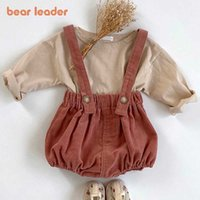 Bear Leader Girls Baby Casual Clothes Sets 2021 Summer Fashion Toddler Girls Boys T-Shirt Suspender Pants Outfits Infant Suits Y0909