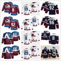 "2021 2022 Colorado Avalanche Hockey Jersey Nathan Mackinnon Cale Makar Gabriel Landeskog Joe Sakic Mikko Rantanen Maroon Ретро ""НХЛ"""