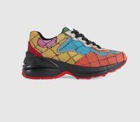 Luxusdesigner Multicolor Series Rhyton Männer Frauen Freizeitschuhe Sneakers Größe mit 35-45