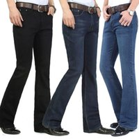 اللون: أزرق أسود داكن جينز الرجال الخريف / الشتاء 2021 منتصف عالية الخصر العرق السراويل زائد الصوف سميكة الكورية