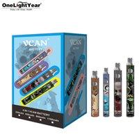 As últimas baterias de vcan 350 650 900 1100mAh Display com carregador USB Pacote de presente Vape Vape Pen