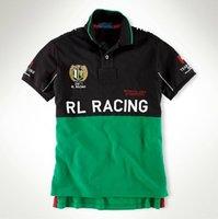 도매 남자 캐주얼 폴로 셔츠 대형 플래그 스페인 이탈리아 미국 아르헨티나 프랑스 브라질 GBR RL 경주 반팔 티셔츠 미국 크기