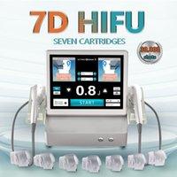 7D HIFU anti wrinkle beauty salon machine anti-aging body and face lifting ultra with 7 cartridges