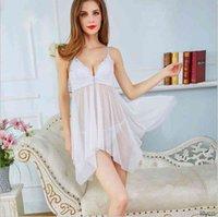 roupas sexy roupas eróticas underwear europeu e americano copo de algodão sexo pijama perspectiva de comércio exterior conjunto feminino gaze alça de nightgown