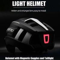 Promend o capacete de bicicleta levou luz recarregável de bicicleta de bicicleta de ciclismo de bicicleta de bicicleta de ciclismo esporte para homem