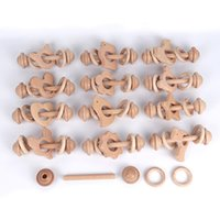 Baby Teether Toys Beech Wooden Rattle Wood Teething Rodent Ring Musical Chew For Children Goods Soothers 11 styles Z3428