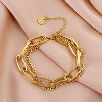 2021 luxurys fashion designers double deck carved letter Bracelet classic charm exquisite workmanship for men and women good