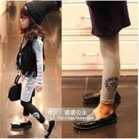 CH H earts chrome spring and autumn new clothing Korean crosin cotton Leggings children's slim pants