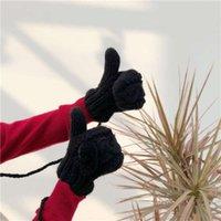 Kış Eldivenler JMX / Sonbahar Ürünleri: Güzel Tatlı İplik, Kalınlaşmış ve Sıcak Kore Örme Kaşmir Saf Yün Eldiven
