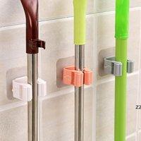 Titulaires de clips de vadrouille Salle de bains Toilette gratuite Toilettes Strong Mural Hook Clip Crochet Porte-cartes Titulaire HWB7701
