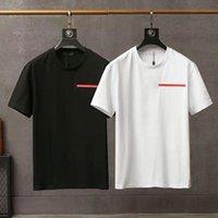 Lyx Casual Mens T Shirt Ny slitage Designer Kortärmad 100% bomull Högkvalitativ Partihandel Svartvit Storlek M ~ 2xl 001
