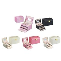 Jewelry Pouches, Bags Large Packaging & Display Box Armoire Dressing Chest With Clasps Bracelet Ring Organiser Carrying Cases