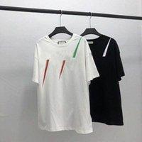 20ss 남자 티셔츠 디자이너 편지 인쇄 크루 넥 캐주얼 여름 통기성 남성 여자 티셔츠 솔리드 컬러 탑스 티셔츠 도매 f0mw #
