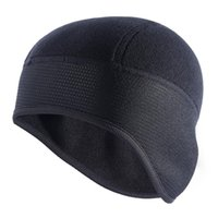 Cycling Caps & Masks Winter Fleece Warm Outdoor Sports MTB Bike Hats Snow Skull Helmet Liner For Man Woman Windproof