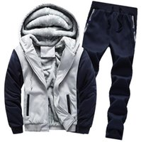 New mens womens tracksuits Winter Warm Thick sweatshirts suits men track sweat suit coats man designers jackets hoodies pants Outfit Street or Outwear sportswear