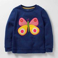 Little maven 2-7Years Autumn Cartoon Butterfly Kid's Girl's Baby's Sweatshirt Children's Clothes For Girl Boy Sweater Fleece 210923