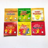 Paketleme Çantası 600 mg Baribo Lezzet Çanta Gummy Mutlu Kiraz Çilek Meyve Salatası Fizzy Cola Şeftali DHL