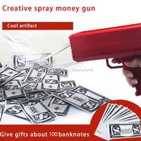 Mode machen es regnet Spray Geld Waffe Cash Cannon Spielzeug spucken banknoten spiel pistole weihnachtsgeschenk dekompression schoss spielzeug lustige party pistolen spielzeug