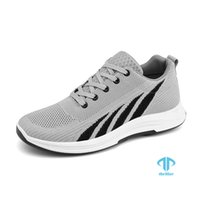 THRILLER men Spring blade Running Shoes black grey Casual Sports Gym Outdoor Hard-Wearing Male Light Shock-Non-Slip Sneakers