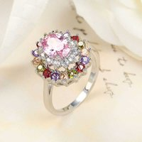 Free - Royal style 925 silver Beautiful design Natural Mystic topaz for Lovers' Ring CR0179