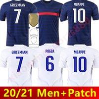 Euro 2021 Kupası MBappe Griezmann Fransa Futbol Forması Pogba Giroud Kante Maillot De Ayak Ekip MAILLOYS Futbol Gömlek Üniformaları LA 100. 100 Yıl Erkekler + Çocuk Seti
