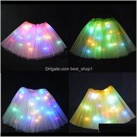 الصيف الأطفال عيد الرقص أضواء شبكة تنانير حزب للأداء مثير تضيء الكرة مصغرة توتو فستان الصمام vzuzy wyms8