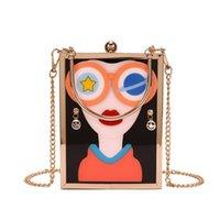 Evening Bags Acrylic Flower Box Design Woman Fashion Purses And Handbags Shoulder Chain Bag Female Party Funny Clutch Crossbody Bolsa