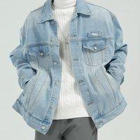 Männer   Herbst und Winter 2021 gewaschene Jacke koreanische Trend Jeans Herrenjacken