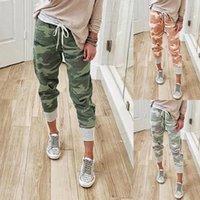 Wepbel camouflage pantalon de crayon imprimé plus taille de pantalon à lace-up leggings jogging femmes femmes vêtements vêtements capris