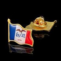 30 pcs States États-Unis Drapeaux State Lowa of Etats-Unis Métal Craft Plaqué PatroisiRISM PatroisiRISM Pin Collection