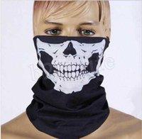 Magic bufanda esqueleto montar al aire libre hembra halloween accesorios babero bufanda máscara anti-polvo hombres y mujeres