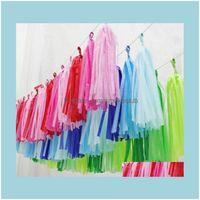 Event Festive Supplies Home & Gardentissue Paper Tassel Diy Party Garland For Baby Decoration Bridal Shower Wedding Bunting Pom Sn822 Drop D