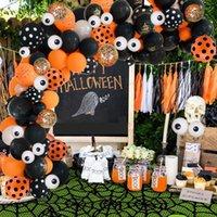 106Pcs Latex Balloons Garland Kit Arch Orange Black Spider Globals Halloween Party Decoration Kids Birhtday Gifts Toy