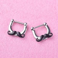 Puncture Jewelry False Noses Stud Beard Borsa in acciaio inox Nose Anello Noseclip Trend And Trend Clip nasal Ornamento 3 5LL Y2