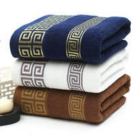 Towel High Quality Luxury Soft Embroidered Towels Bathroom Strongly Water Absorbent Adult Beach 100% Cotton 35x75cm