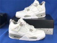 2021 lançamento 4 sapatos de basquete de homens de Oreo branco 4s tech tech cinza-branco chaussures treinadores sapatilhas sapato esportivo com caixa ct8527-10047fq