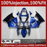 OEM-Körper-Spritzgussform für Kawasaki Ninja ZZR600 05-08 Blaue Flammen ZX ZZR-600 600 CC 05 06 07 08 Cowling 38HC.231 Aktie ZZR 600 600cc 2005 2006 2007 2007 2007 100% Fit Verkleidungsset