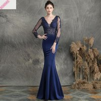 Casual Dresses 2021 Cotton Polyester Vestidos Mujer This Handmade Decal Nail Bead Salute Sexy Long Dress Elegant Fishtail For Banquet