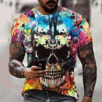 Men's T-Shirts 2021 Summer And Women's Tops 3D Skull Print T-shirt Fashion Casual Fitness Running Short-sleeved Streetwear