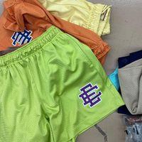 Eric Emanuel Ee Basic Kurze Männer Fitness Shorts, Mesh Atmungsaktive Strandhosen, Sports-Serie Basketballhose New York 2022