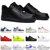 air force 1 platform 남성 캐주얼 신발 여성 shadow black white shoe pale ivory classic flax high quality mens trainer sneakers